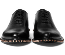 Studded Leather Oxford Shoes