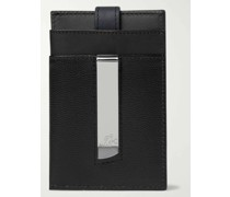 Pebble-Grain Leather Cardholder with Money Clip