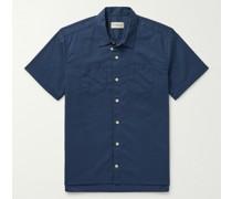Convertible-Collar Cotton Shirt