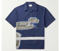 Abrasion Printed Cotton Poplin Shirt