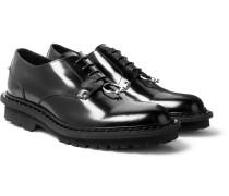 Embellished Polished-leather Derby Shoes
