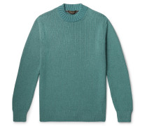 Ribbed Mélange Silk and Cashmere-Blend Sweater