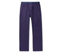 Checked Cotton-Blend Pyjama Trousers
