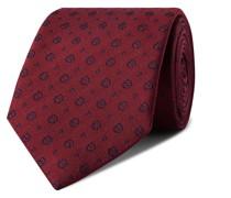 + Drake's 8cm Logo-Embroidered Silk-Faille Tie