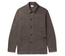 Cashmere-Blend Chore Jacket