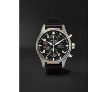 Pilot's Automatic Chronograph 43mm Stainless Steel and Leather Watch, Ref. No. IW377709