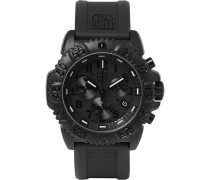Navy Seal Colormark 3081.bo Series Carbon-reinforced And Rubber Chronograph Watch