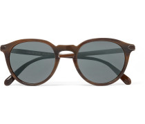 + Oliver Peoples Rue Marbeuf Round-frame Acetate Polarised Mirrored Sunglasses