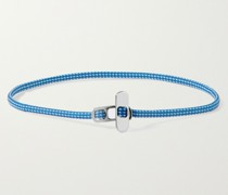 Metric Rope and Sterling Silver Bracelet