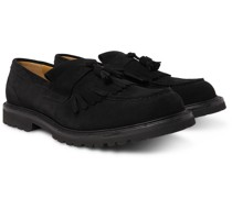 Heath Goodyear-Welted Suede Tasselled Loafers
