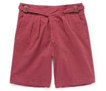 Manny Washed Stretch-cotton Bermuda Shorts