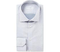 Mercurio Slim-fit Polka-dot Cotton Shirt