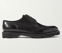 Hardington Polished-Leather Derby Shoes
