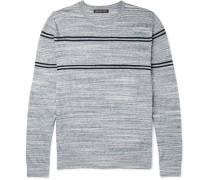 Jaspe Slim-fit Striped Knitted Cotton Sweater