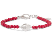 San Gennaro Silver-tone Beaded Bracelet