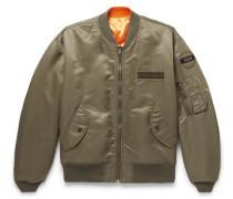 Reversible Appliquéd Nylon Bomber Jacket