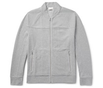 Cotton-blend Piqué Zip-up Sweatshirt