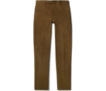 Brown Cotton-corduroy Suit Trousers