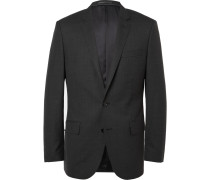 Grey Ludlow Slim-fit Wool Suit Jacket