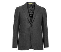 Kei Slim-Fit Unstructured Wool-Flannel Suit Jacket
