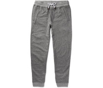 Tapered Mélange Cotton-jersey Sweatpants