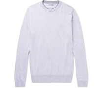 Contrast-trimmed Sea Island Cotton Sweater