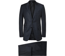 Blue O'connor Slim-fit Wool And Silk-blend Suit
