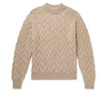 Abi Cable-Knit Mélange Baby Alpaca-Blend Sweater