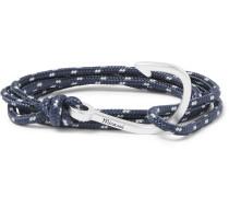 Hook Cord Silver-plated Wrap Bracelet