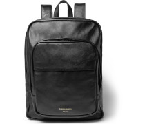 Cross-grain Leather Backpack