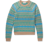 Slim-fit Naif Intarsia Merino Wool Sweater