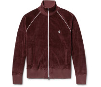 + Champion Contrast-tipped Cotton-velour Track Jacket