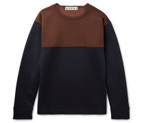 Oversized Colour-block Virgin Wool-blend Sweatshirt
