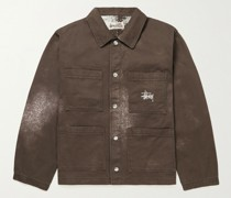 Bleached Cotton-Twill Chore Jacket