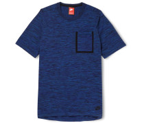 Slim-fit Knitted Cotton-blend T-shirt