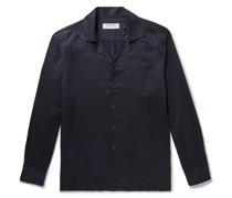 + Johannes Huebl Camp-Collar Tencel Shirt