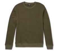 Slim-fit Washed Cotton-blend Jersey Sweatshirt