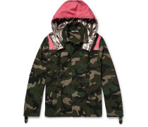 Camouflage-print Cotton-twill Field Jacket With Detachable Shell Hood