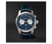 Jaguar D-Type Limited Edition Automatic Chronograph 43mm Stainless Steel and Leather Watch, Ref. No. D-TYPE-BL-R-S