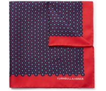 Floral-print Silk-twill Pocket Square