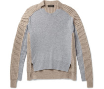 Runway Two-tone Panelled Cashmere Sweater