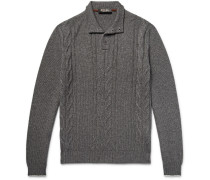 Cable-knit Cashmere And Silk-blend Sweater