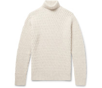 Andreas Honeycomb-knit Virgin Wool Rollneck Sweater