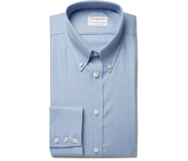 + Turnbull & Asser Blue Slim-fit Brushed-cotton Shirt