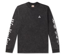 ACG NRG Logo-Embroidered Printed Tie-Dyed Cotton-Jersey T-Shirt