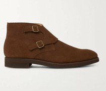 Fry Suede Monk-Strap Boots