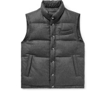 Reversible Wool And Shell Down Gilet