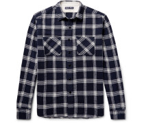 Checked Brushed-cotton Flannel Shirt