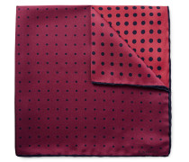 Colour-block Polka-dot Silk Pocket Square