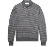 Striped Wool And Cashmere-blend Polo Shirt